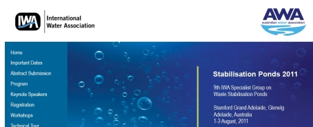 Stabilisation Ponds 2011 conference banner